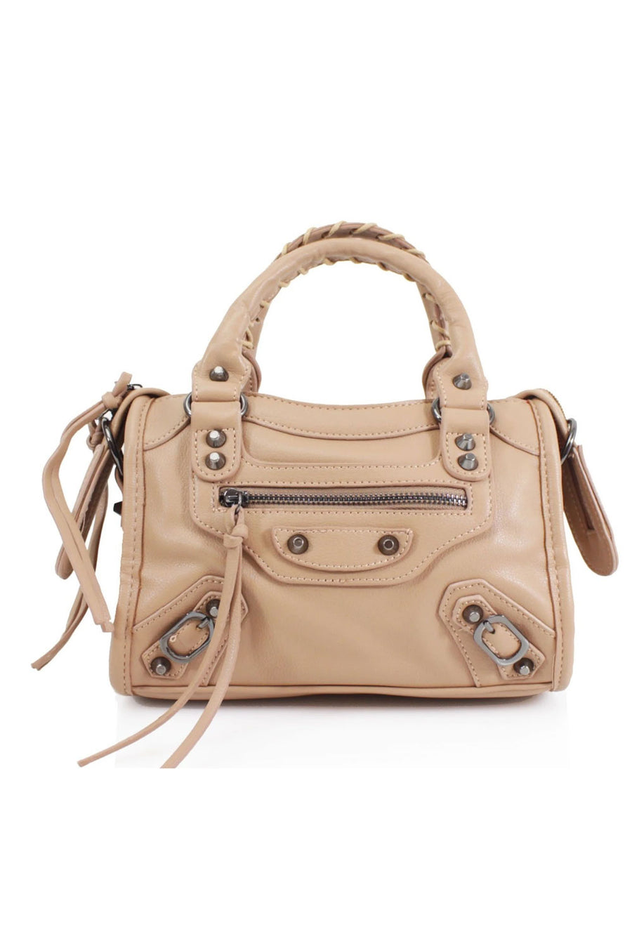 Beige Buckle Zip Detail Mini Bag - Phoebe