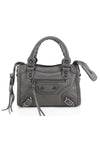 Charcoal Buckle Zip Detail Mini Bag - Phoebe