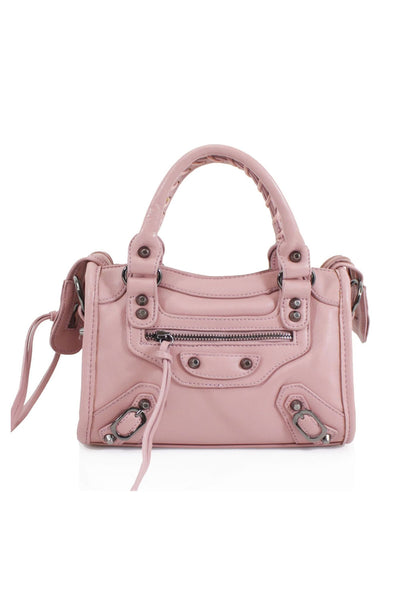 Pink Buckle Zip Detail Mini Bag - Phoebe