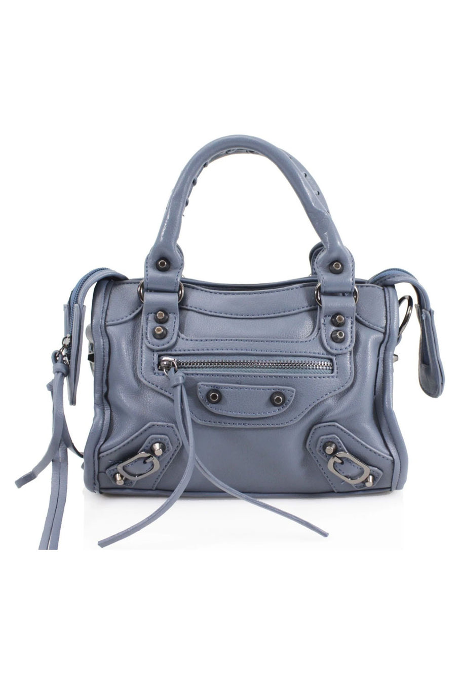Light Blue Buckle Zip Detail Mini Bag - Phoebe