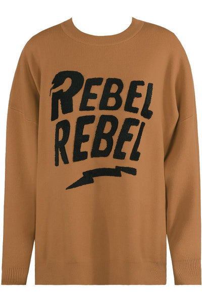 Brown Rebel Rebel Baggy Knitted Jumper - Oakley