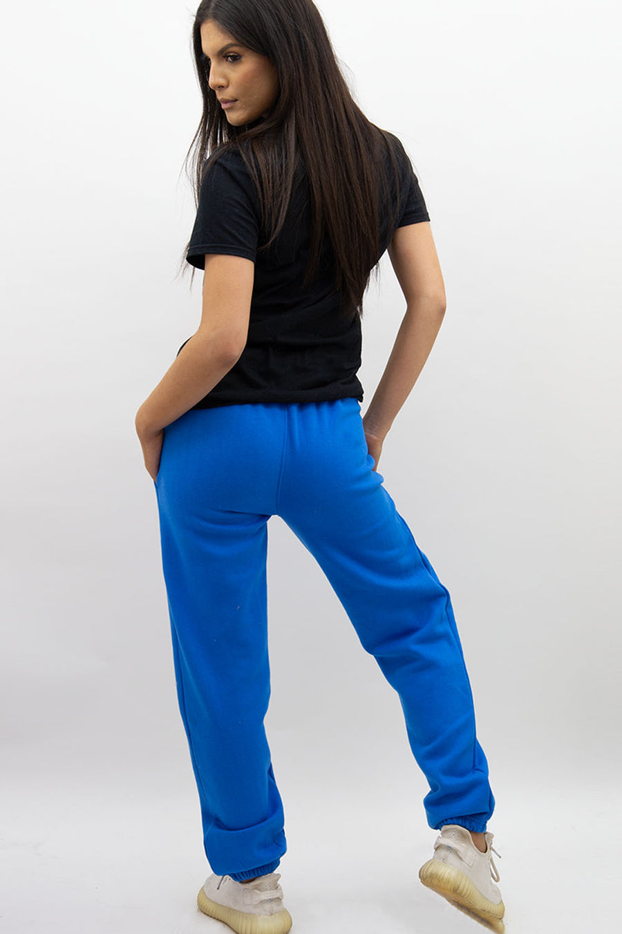 Royal Blue Casual Oversize Joggers Loungewear - Gloria