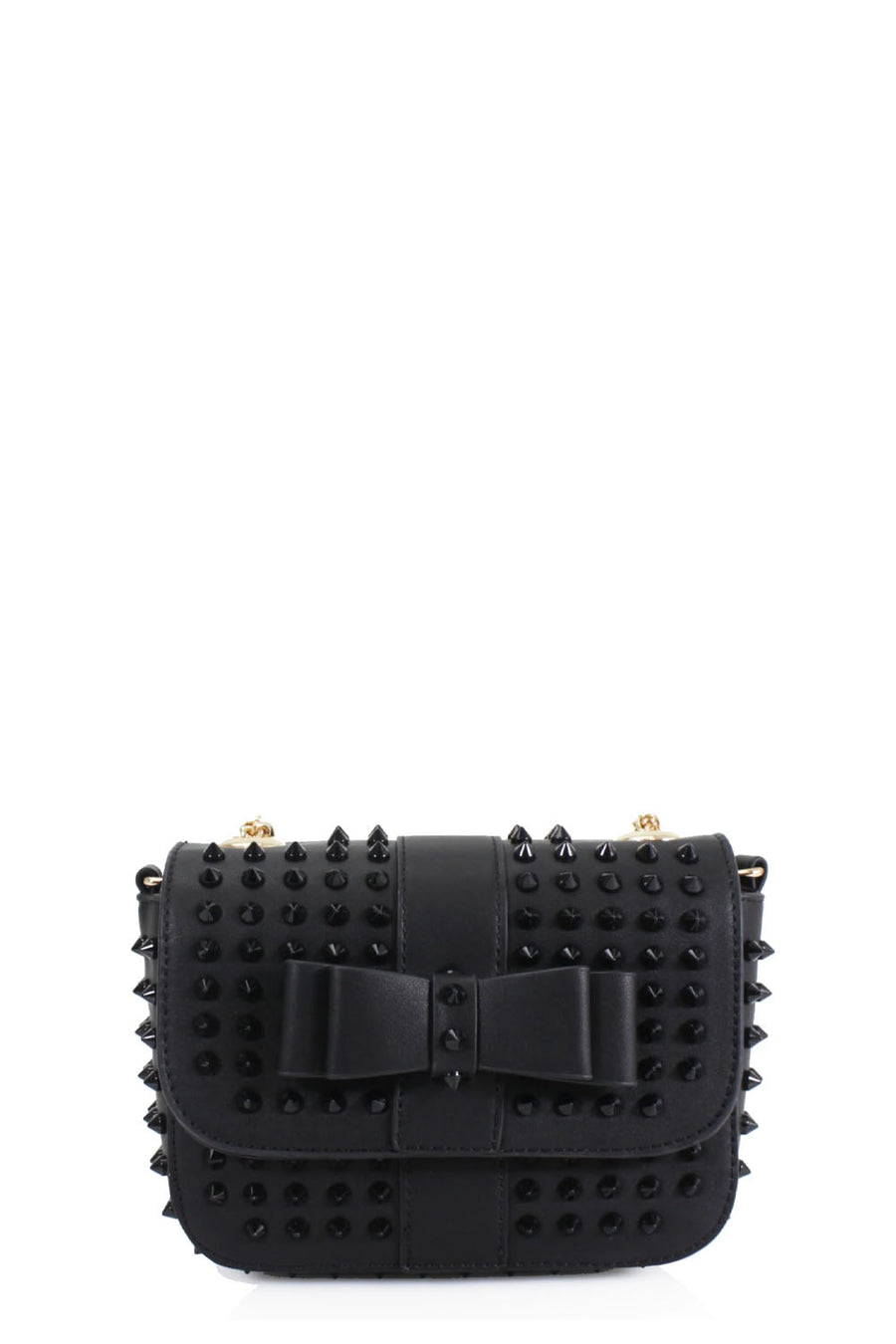 Black Studded Bow Bag - Angel