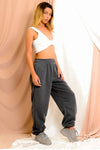 Dark Grey Casual Oversize Joggers Lounge wear - Gloria