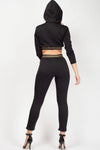Black Aztec Band Two Piece Lounge Wear - Sierra