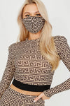 Stone Illusion Print Co-ord With Face Mask - Erin