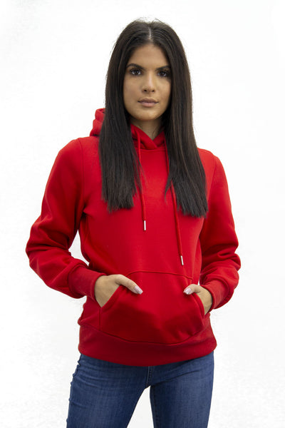 Red Fleece Hoodie - Kelly
