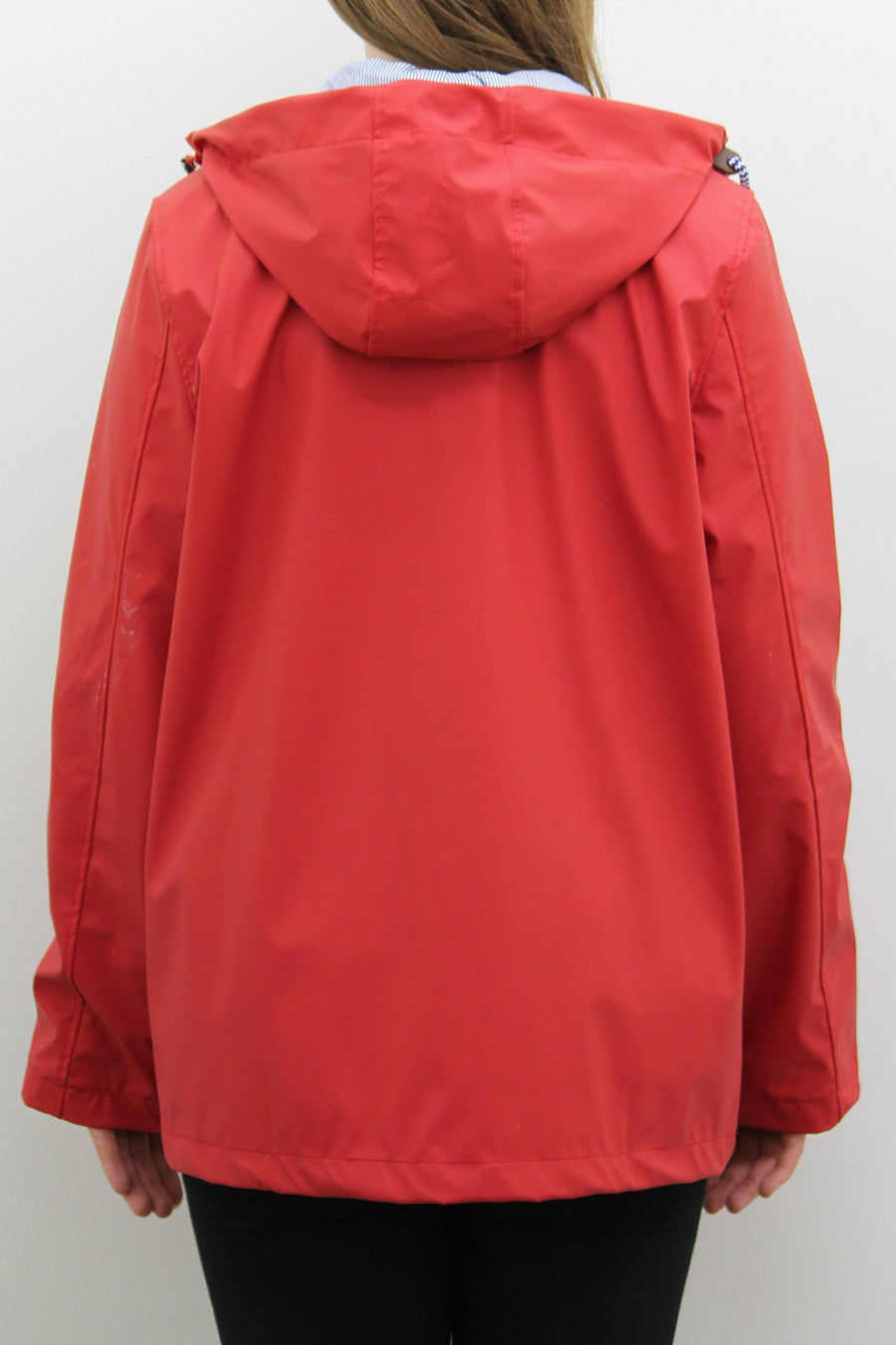 Chilli Red Waterproof Hooded Festival Rain Mac coat - Lola - storm desire