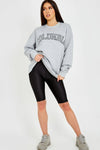 Grey COLUMBIA Embroidery Sweatshirt Jumper - Sarah