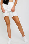 Off White Jersey Shorts - Amira