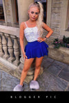 Royal Blue Multi Layered Frill Mini Skorts - Kylie