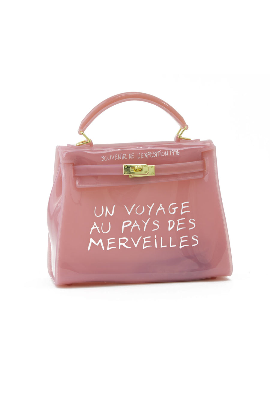 Baby Pink Un Voyage Top Handle Midi jelly Tote Bag - Catalina