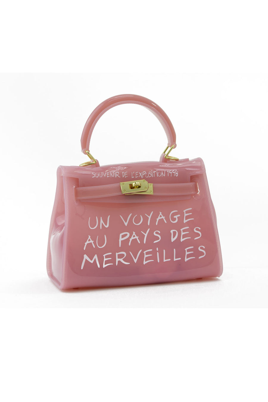 Baby Pink Un Voyage Top Handle Mini jelly Tote Bag - Vera