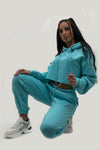 Aqua Hooded Jersey Lounge wear Suit - Nova