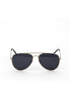 Aviator Metal Frame Sunglasses - Black