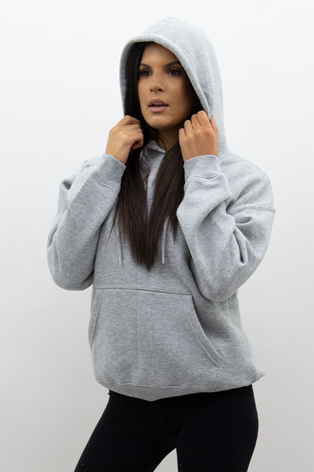 Grey Jersey Casual Lounge Hoodie - Kelly