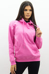 Fuchsia Pink Jersey Casual Lounge Hoodie - Kelly