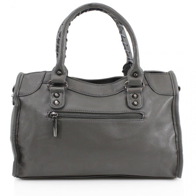 Grey Buckle Zip Detail Grab Bag - Dakota