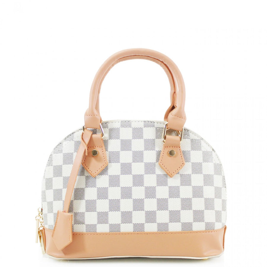 White Patterned Mini Tote Bag - Callie