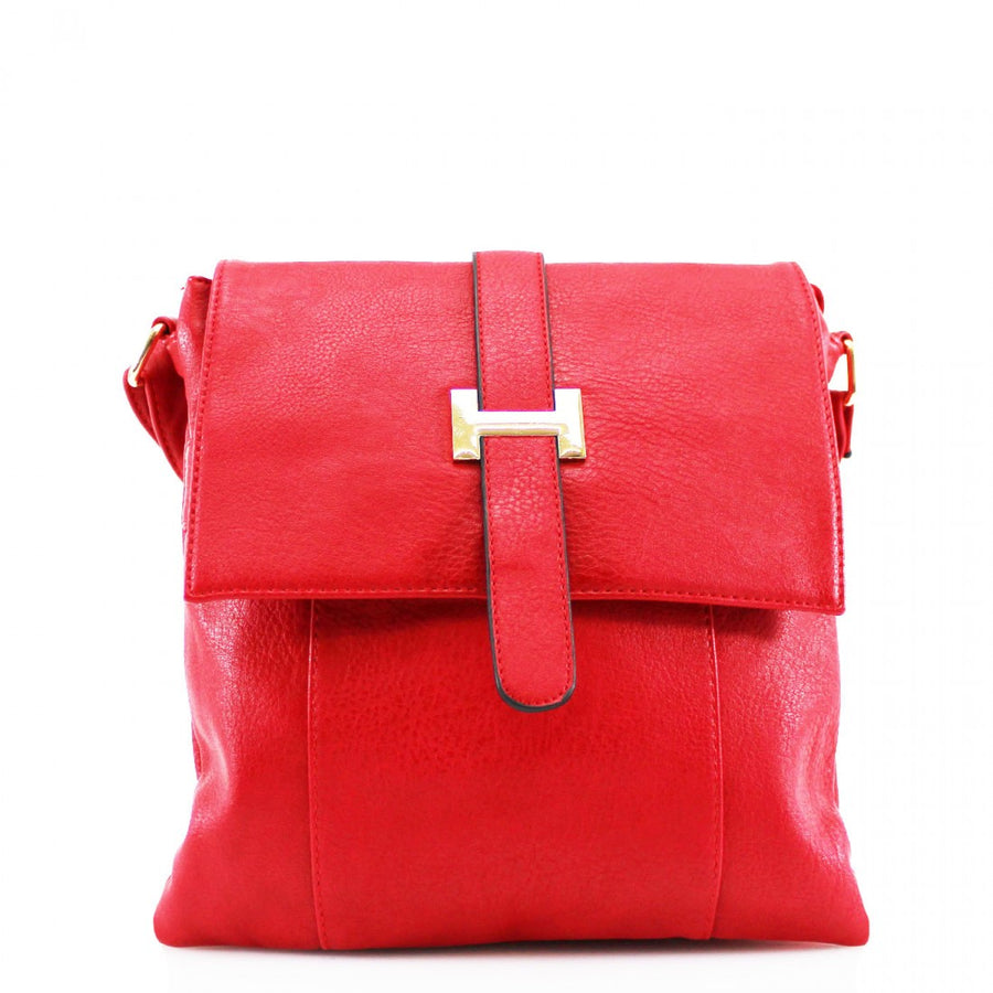 Red Across Body Strap Bag - Cassidy