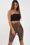 Leopard Print Disco Cycling Shorts - Vanessa