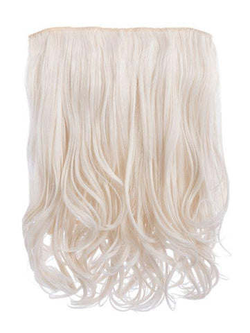 Rosie 1 Weft 16″ Curly Hair Extensions In Bleach Blonde - storm desire