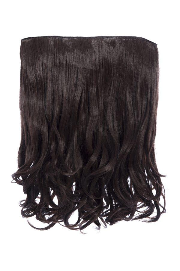 Rosie 1 Weft 16″ Curly Hair Extensions In Chocolate Brown - Storm Desire