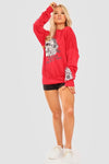 Red Floral Skull Graphic Sweatshirt Jumper - Lexi