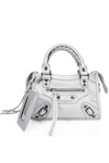 Metallic Silver Buckle Zip Detail Mini Bag - Phoebe