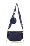 Navy Blue Strap Trio Bag - Logan
