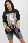 Black Face Pop Art Graphic Sweatshirt Jumper - Micah