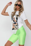 White A LA MODE Graphic Printed T-Shirt - Hailey