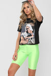 Black A LA MODE Graphic Printed T-Shirt - Hailey