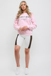 Baby Pink Ye Saint Love Print Sweatshirt Jumper - Alice