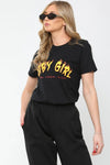 Black Baby Girl Graphic T-Shirt - Janet
