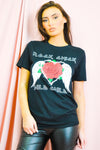Black Rock Chick Rose Print T Shirt - Dominic