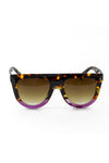 Gradient Tortoise Shell Sunglasses - Purple