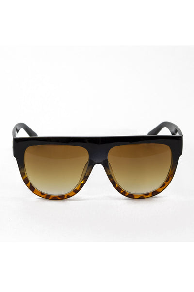 Oversized Tortoise Shell Sunglasses - Brown