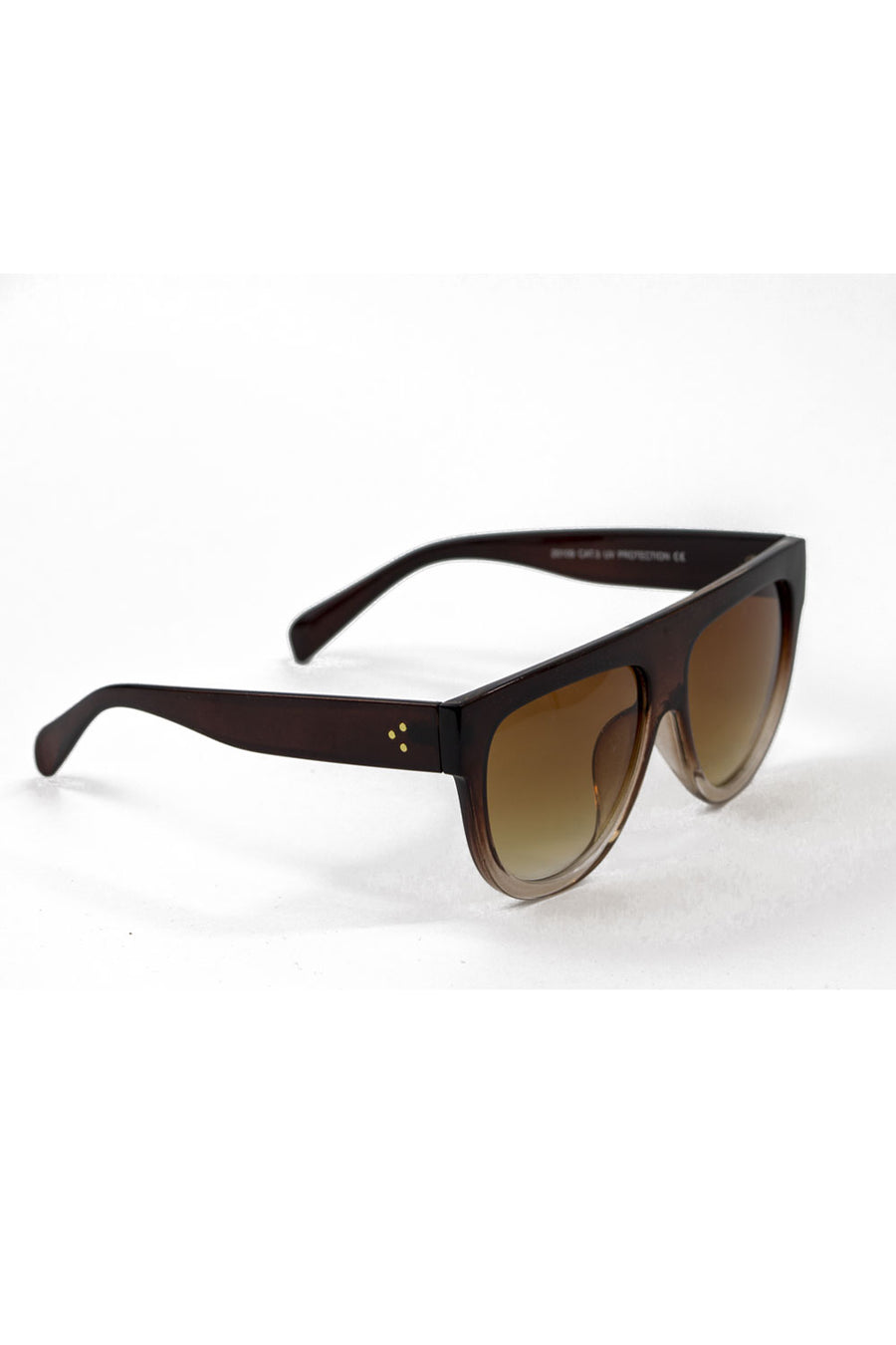 Oversized Gradient Sunglasses - Brown