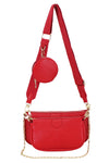 Red Strap Trio Bag - Logan