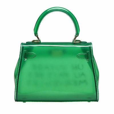 Green Un Voyage Top Handle Midi jelly Tote Bag - Catalina