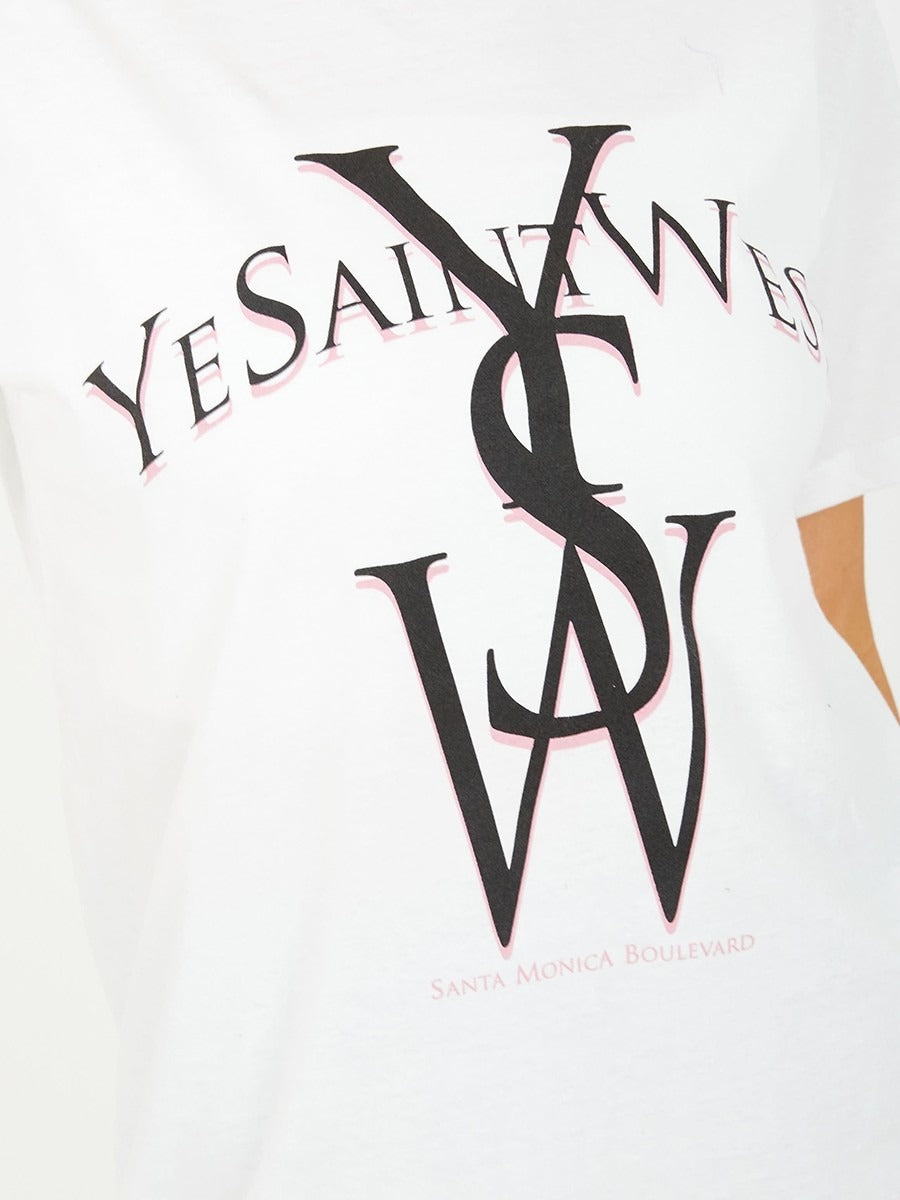 White YSW Graphic Printed T-Shirt - Taylor