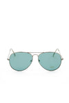 Aviator Metal Frame Sunglasses - Teal