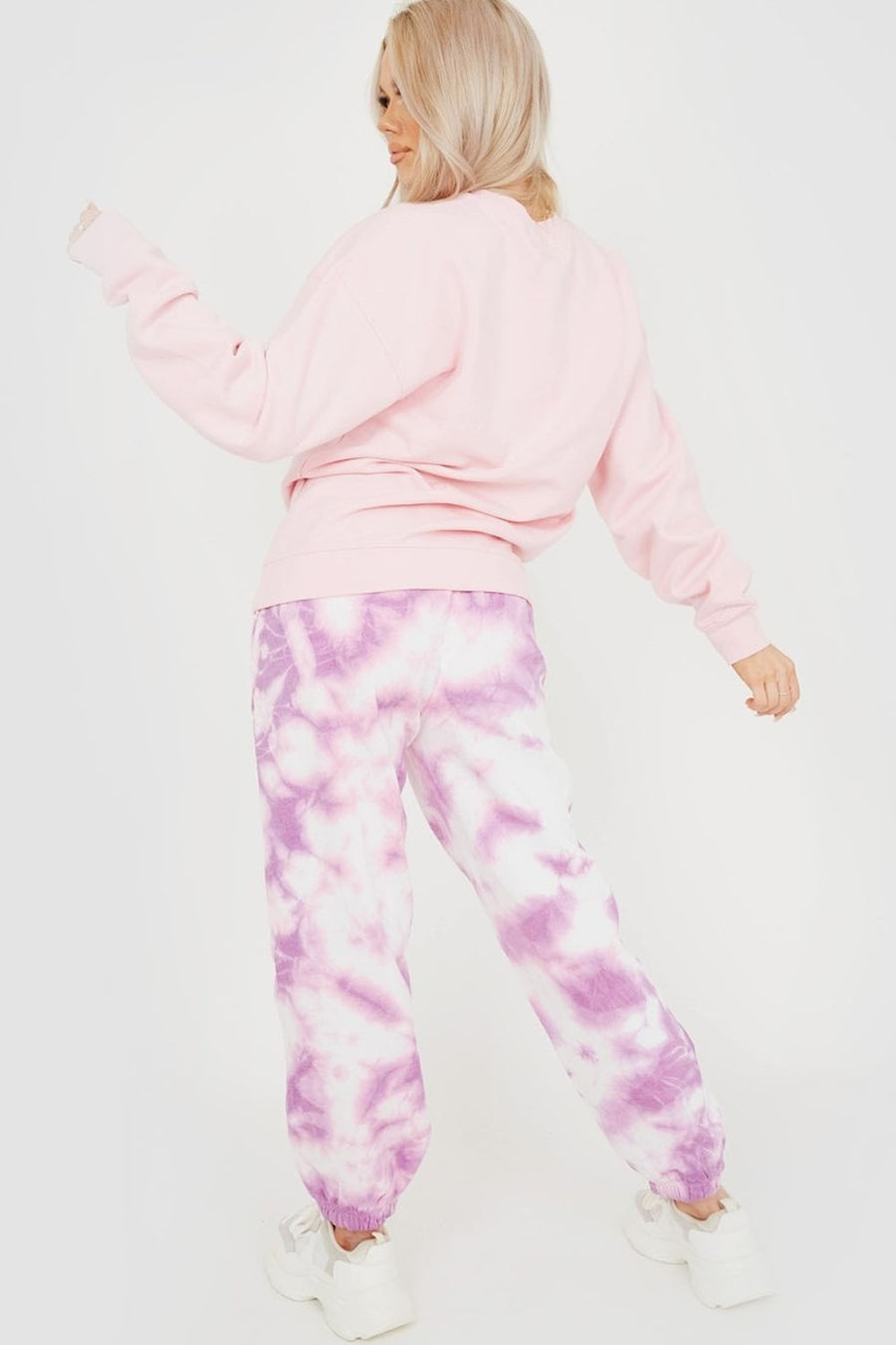 Purple Tie-Dye Oversized Fleece Joggers - Ginny