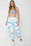 Blue Tie-Dye Oversized Fleece Joggers - Ginny