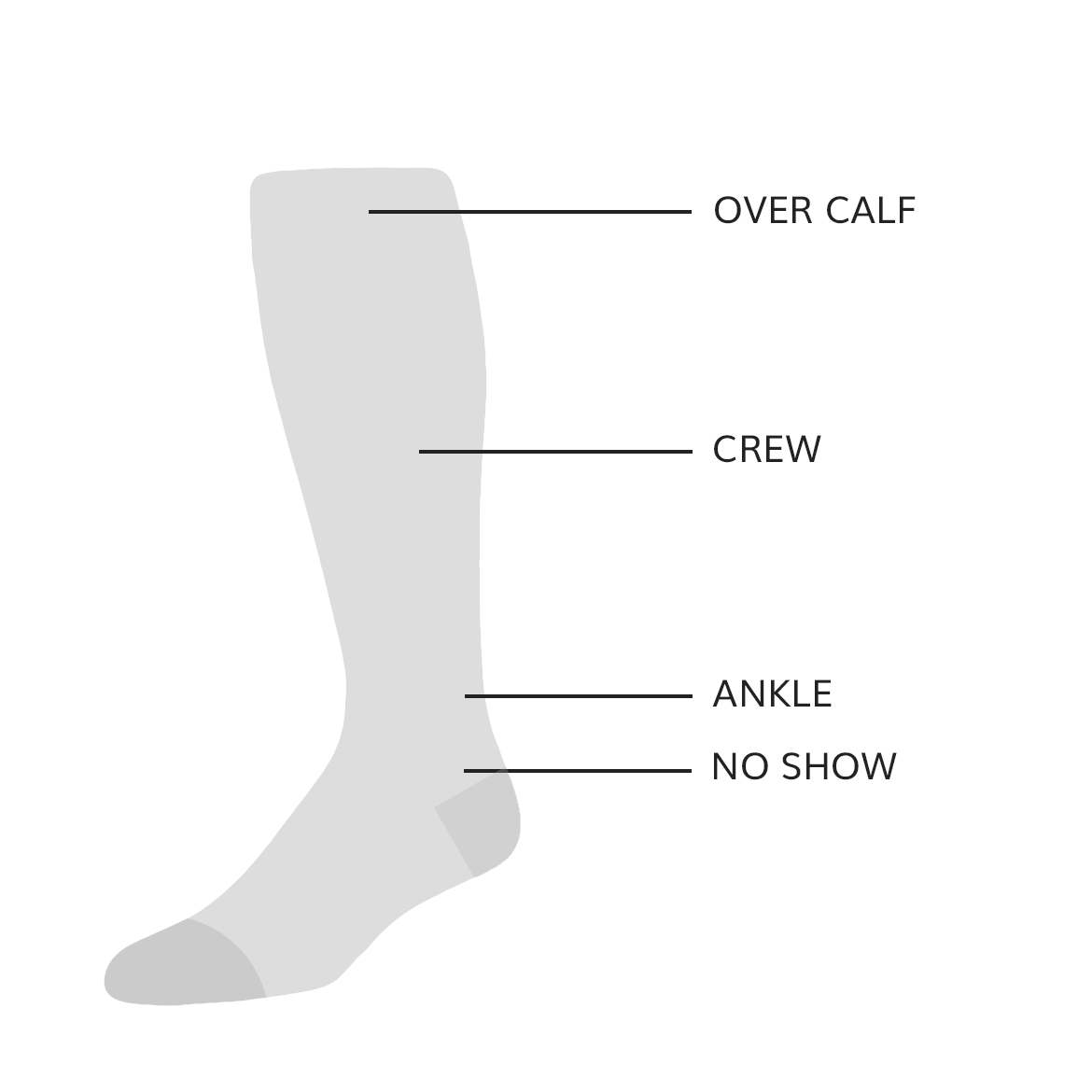Mens Sock Heights