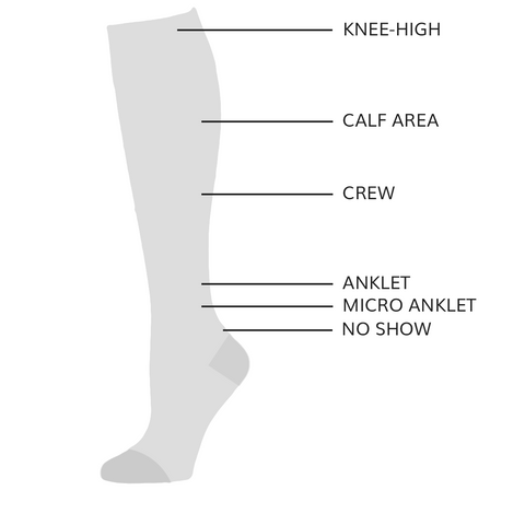 Womens sock heights