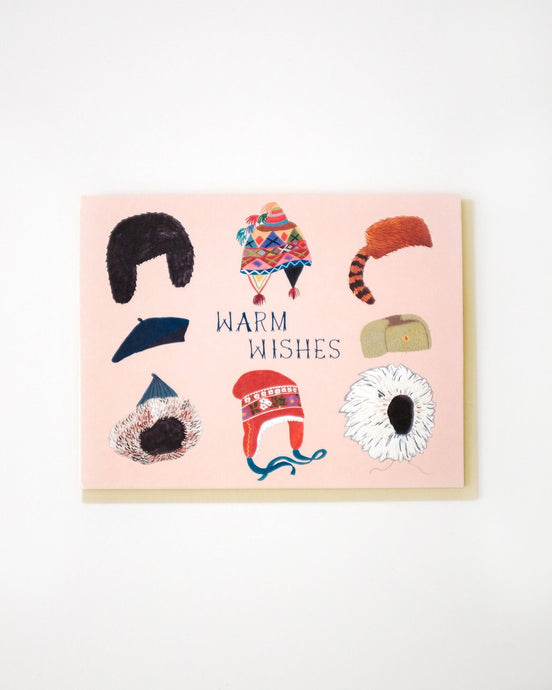 warm wishes hats card