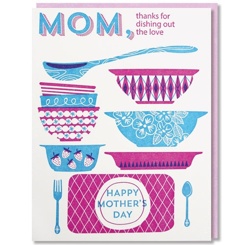 dishing out love mothers day card