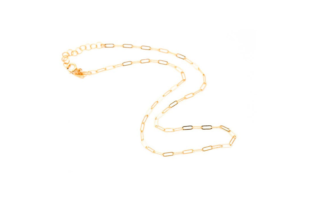dainty link chain choker necklace